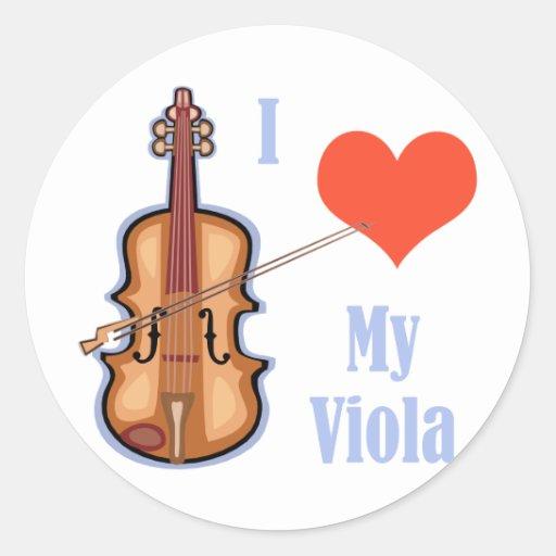 I Love My Viola Sticker