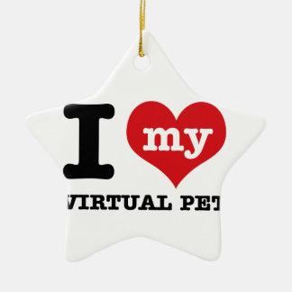 I Love my virtual pet Christmas Ornament
