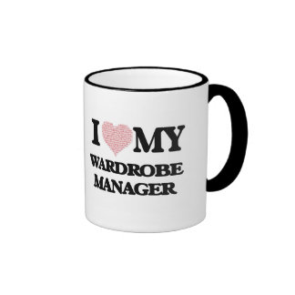 I love my Wardrobe Manager (Heart Made from Words) Ringer Mug