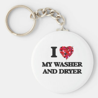 I love My Washer And Dryer Key Ring