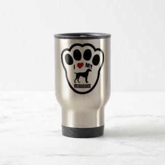 I love my Weimaraner paw print Travel Mug