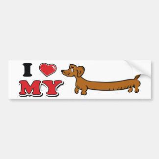 I love my Weiner - Dachshund Bumper Sticker