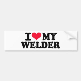 I love my Welder Bumper Sticker