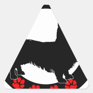 i love my welsh corgi triangle sticker