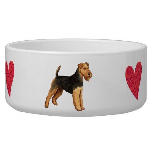 I Love my Welsh Terrier Pet Food Bowls