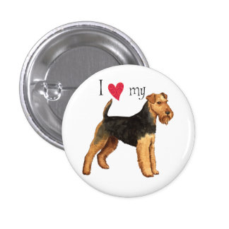I Love my Welsh Terrier Pinback Buttons