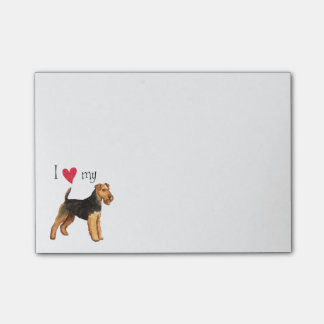 I Love my Welsh Terrier Sticky Notes