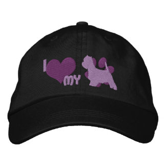 I Love my Westie Embroidered Hat (Purple)