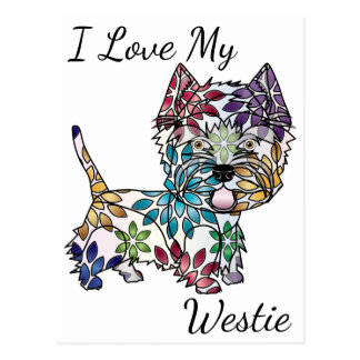 I Love My Westie Postcard