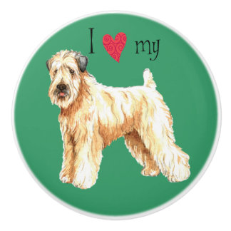 I Love my Wheaten Terrier Ceramic Knob