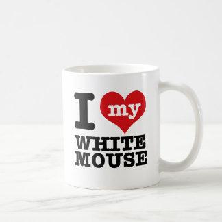 I Love my white mouse Mug