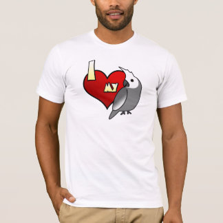 I Love my Whiteface Cockatiel T Shirt