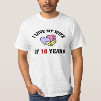 I love my Wife of 10 Years T-shirt