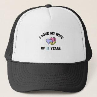 I love my wife of 11 years trucker hat