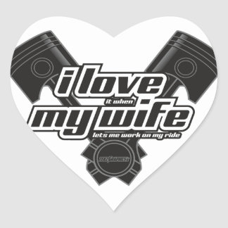 I love my wife - RIDE Heart Sticker