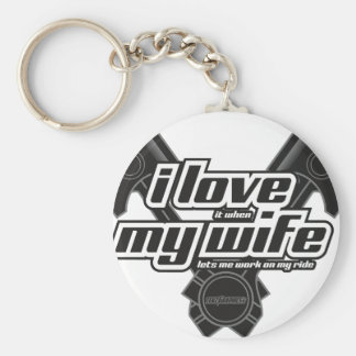 I love my wife - RIDE Key Ring