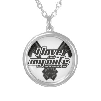 I love my wife - RIDE Silver Plated Necklace