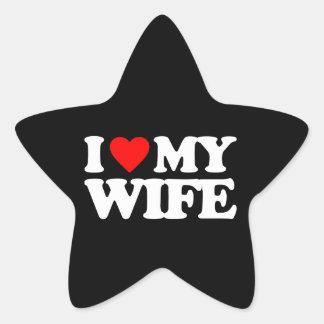 I LOVE MY WIFE STAR STICKERS