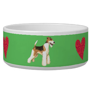 I Love my Wire Fox Terrier Pet Food Bowl