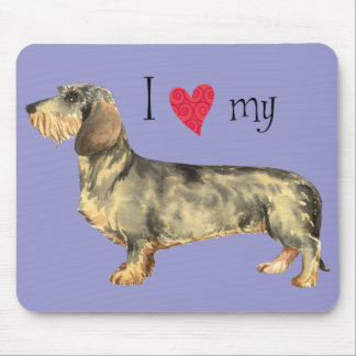 I Love my Wirehaired Dachshund Mouse Pad