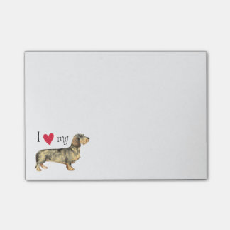 I Love my Wirehaired Dachshund Post-it® Notes