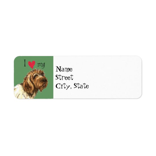 I Love my Wirehaired Pointing Griffon Return Address Label