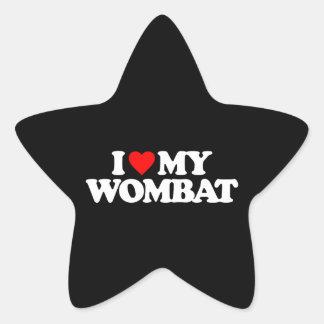I LOVE MY WOMBAT STAR STICKER