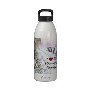 I Love My Wonderful Grandpa - Snowy Winter Day Drinking Bottle