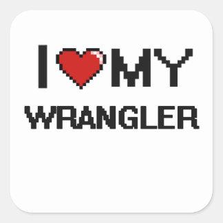 I love my Wrangler Square Sticker