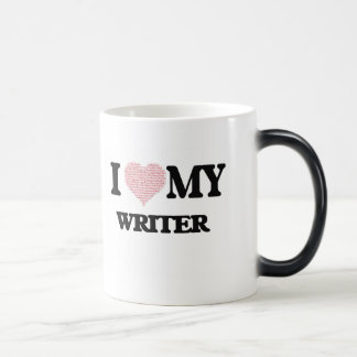 I love my Writer (Heart Made from Words) Morphing Mug