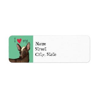 I Love my Xolo Return Address Label