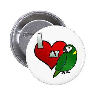 I Love my Yellow Collared Macaw 6 Cm Round Badge