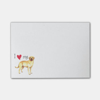 I Love my Yellow Lab Post-it® Notes