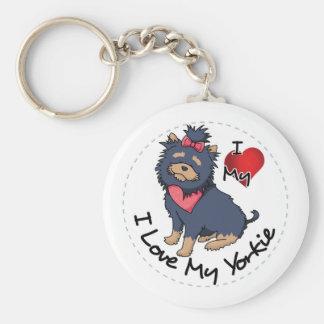 I Love My Yorkie Dog Key Ring