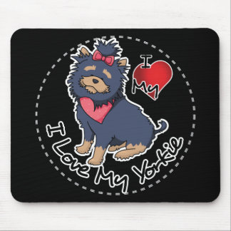 I Love My Yorkie Dog Mouse Pad