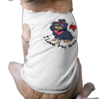I Love My Yorkie Dog Shirt