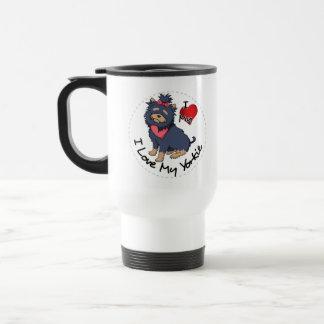 I Love My Yorkie Dog Travel Mug
