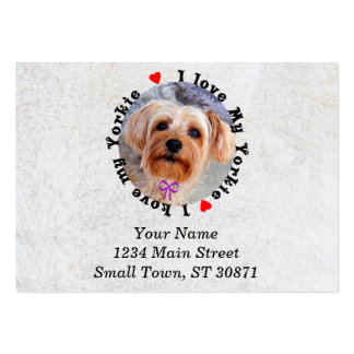 I love my Yorkie Female Yorkshire Terrier Dog Large Business Cards (Pack Of 100)