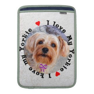 I love my Yorkie Female Yorkshire Terrier Dog MacBook Sleeves