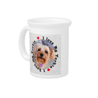 I love my Yorkie Female Yorkshire Terrier Dog Pitchers