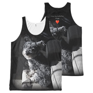 I love my Yorkie Poo! Add Your Dog's Name! All-Over Print Tank Top