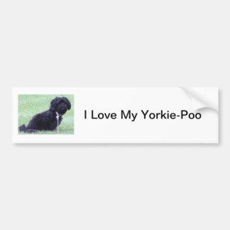 I Love My Yorkie-Poo Bumper Sticker