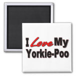 I Love My Yorkie-Poo Dog Gifts and Apparel Square Magnet