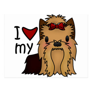 I Love My Yorkie, Yorkshire Terrier Postcard