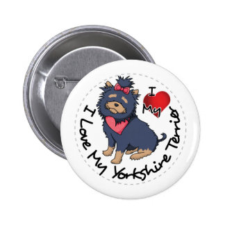 I-Love-My-Yorkshire-Terrier 6 Cm Round Badge