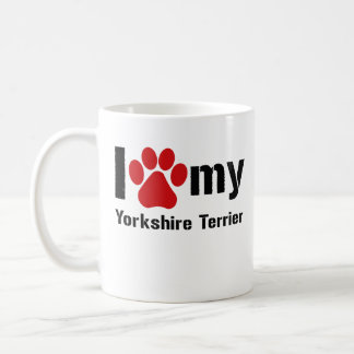 I Love My Yorkshire Terrier Basic White Mug