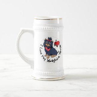 I-Love-My-Yorkshire-Terrier Beer Stein