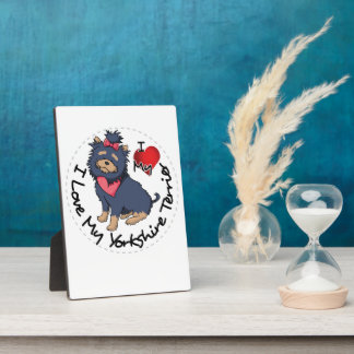I-Love-My-Yorkshire-Terrier Display Plaques