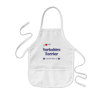 I Love My Yorkshire Terrier (Female Dog) Kids Apron