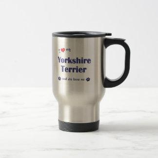 I Love My Yorkshire Terrier (Female Dog) Stainless Steel Travel Mug